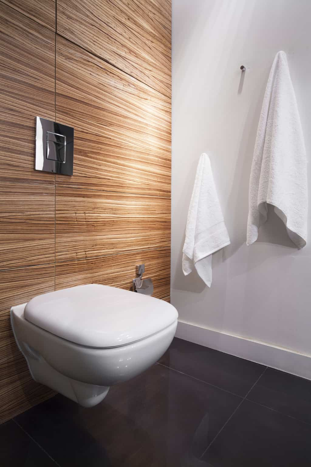 Picture of decorative wall and floor bathroom tiling